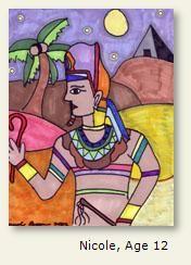 Ancient Egypt - Nicole, Age 12 | Ancient egypt, Egyptian ...
