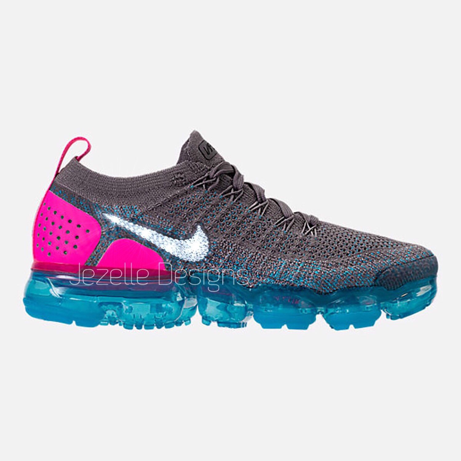 The Ultimate Running shoe with the most exquisite crystals on the planet!!!  The Nike Air VaporMax Flyknit 2 Custom Hand Jeweled with Swarovski Crystals  by ... 4d14c45fc5
