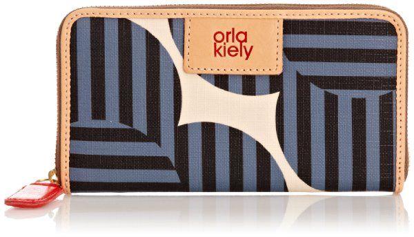 Orla Kiely Optical Flower Print Big Zip Wallet