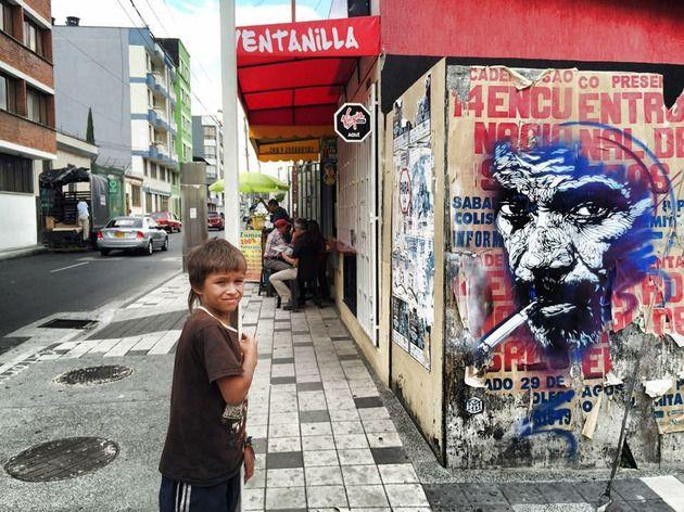 Fervent admirateur du Caravage, le street artiste C215 veut mettre de la poésie et de l'émotion au cœur des villes.