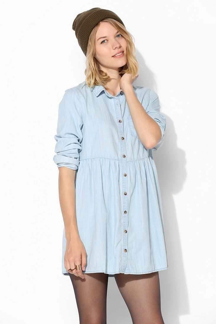 d96217942e4 BDG Chambray Babydoll Shirtdress - Urban Outfitters | to don upon my ...