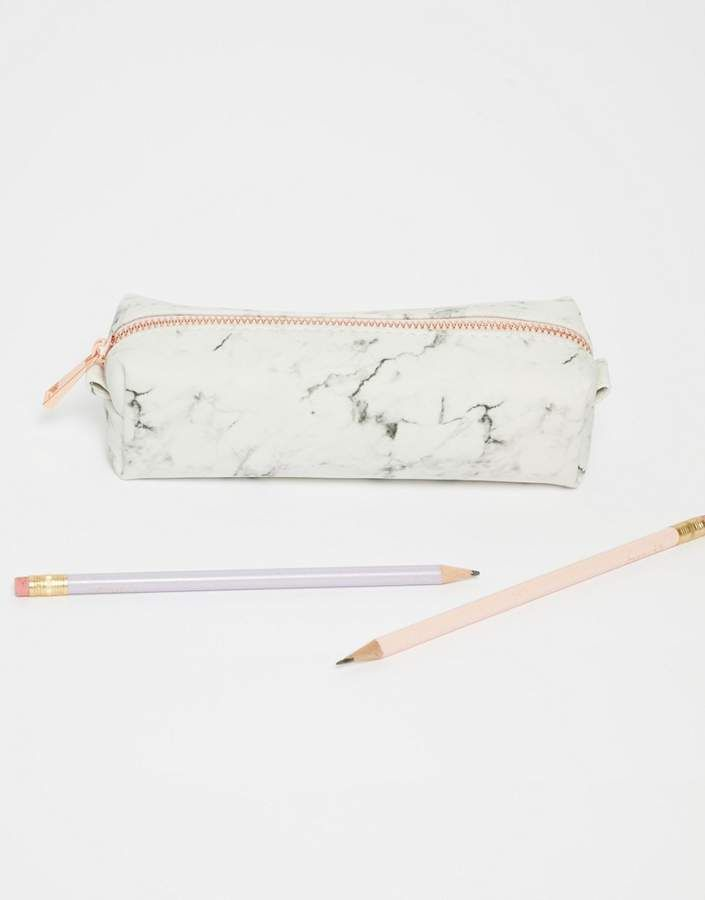 New Look Marble Pencil Case Marble Effect Pencil Case