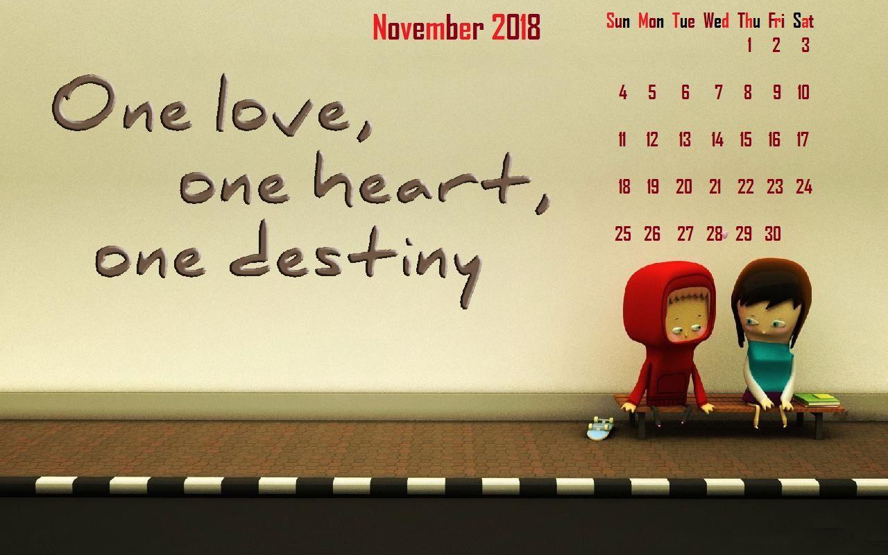 November 2018 Desktop Calendar Wallpaper Calendar