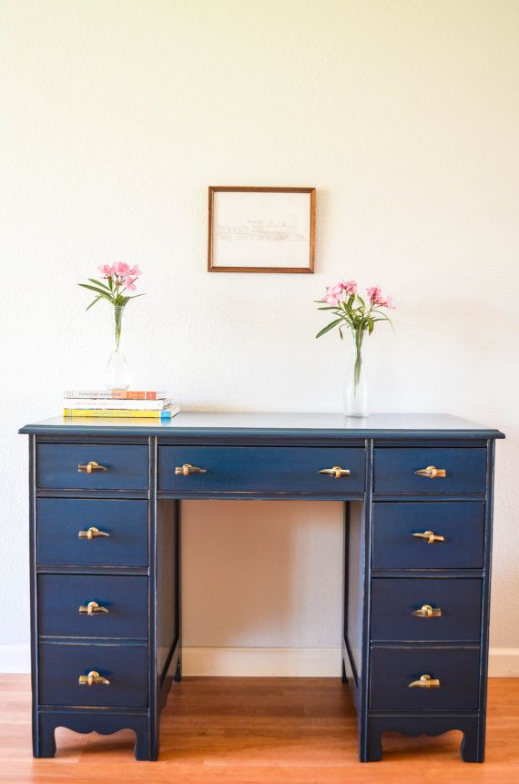 Vintage Hand Painted Desk By Agbstudio On Etsy 390 00