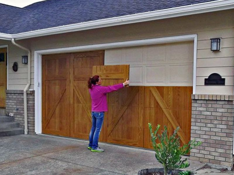 Is Your Garage Door Starting To Look A Little Rough Around The Edges Time To Give It A Diy Makeover These E Diy Garage Door Garage Doors Garage Door Makeover