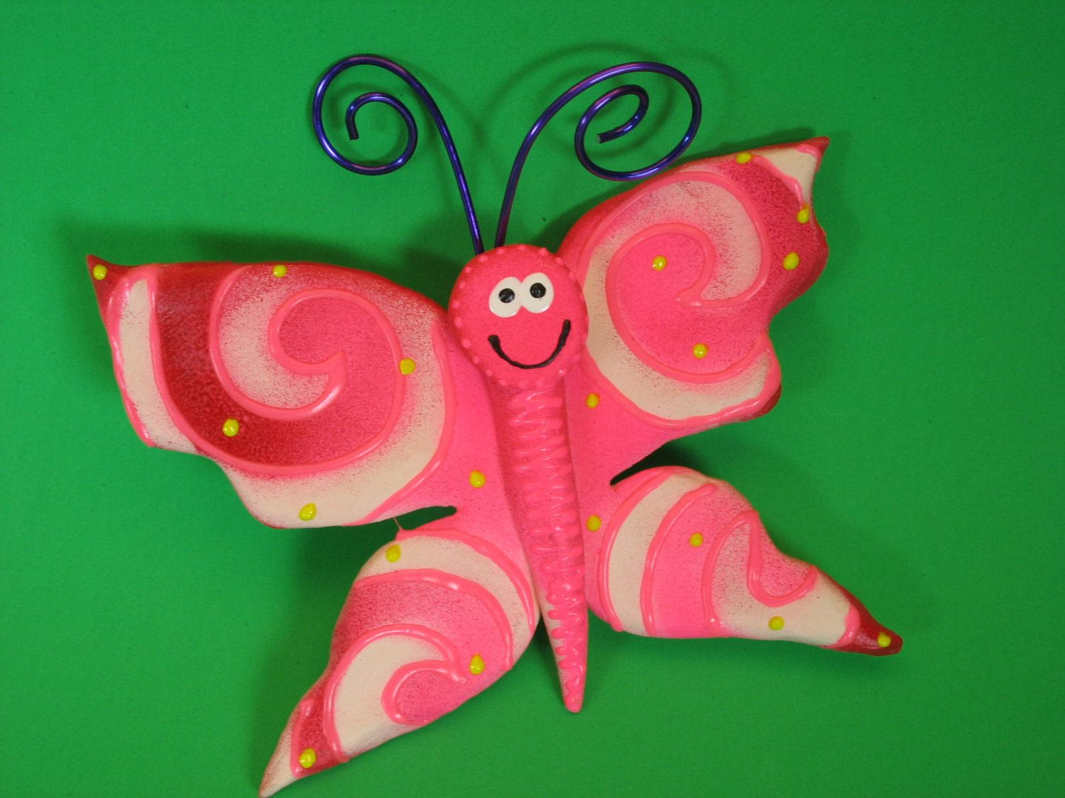 New to PondScumCeramics on Etsy: Colorful Whimsical Butterfly Garden ...