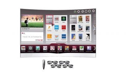 Smart TV LG 55EA9800 tem tela curva de 55 polegadas e excelente tecnologia OLED