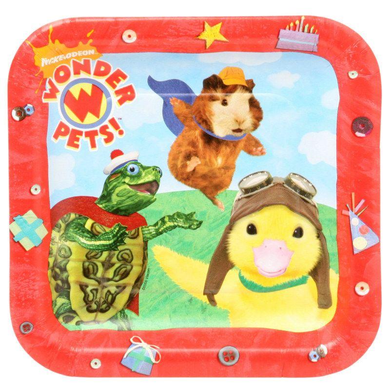 Wonder Pets Square Dessert Plates 8 Count Description What S