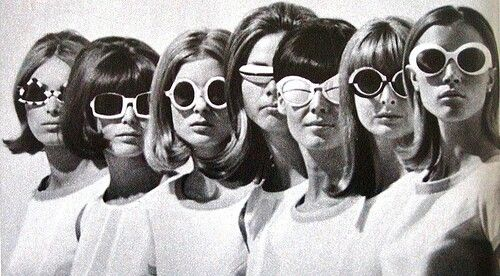 60's hair with shades!