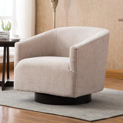 Modern Rustic Interiors Kylie Swivel Barrel Chair Upholstery