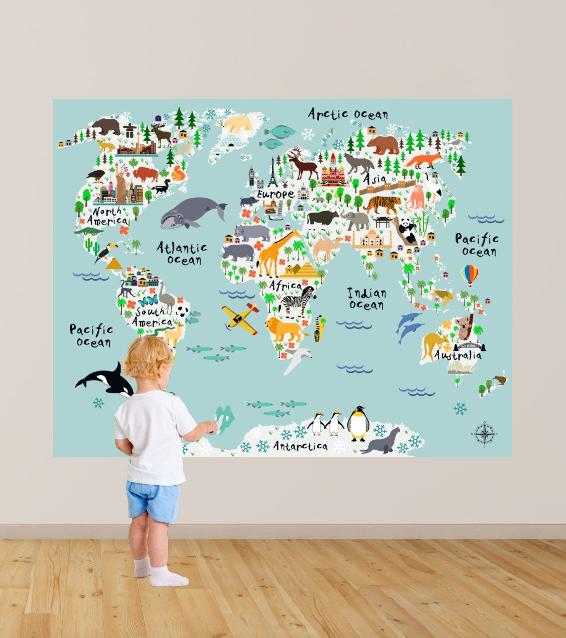 Huge map of the world playroom decal world map wall decals kids map of the world playroom decal world map wall decals kids map bedroom decals playroom decals boys wall decal rockymountaindecals gumiabroncs Gallery