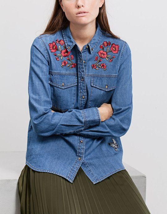 615e50e790 SHIRTS for woman at Stradivarius online. Visit now and discover the SHIRTS  we have for you