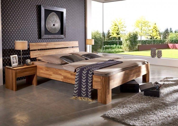 Sam Massivholzbett Aus Wildeiche Geolt 140 X 200 Cm Pesto Comfort Massivholzbett Kleinmobel Bett