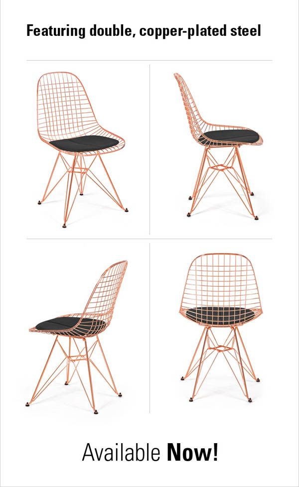 Find This Pin And More On Modernica Case® Study Furniture. The New Copper Wire  Chair ...