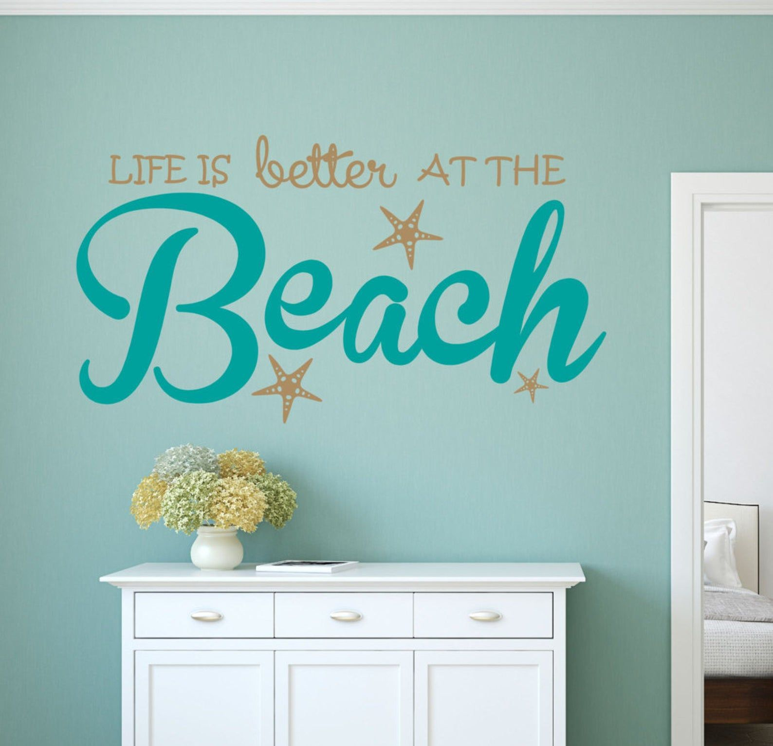 Life Is Better Beach Wall Decal Sticker In 2020 Beach Wall Decals Wall Decals Wall Decal Sticker