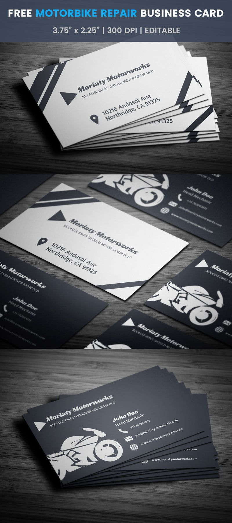 Free automobile business card pinterest business cards business motorbike repair business card full preview colourmoves