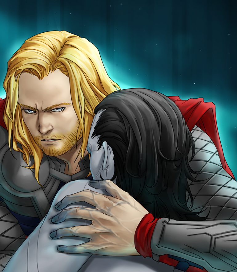 I love any images that depict Thor being protective of Loki