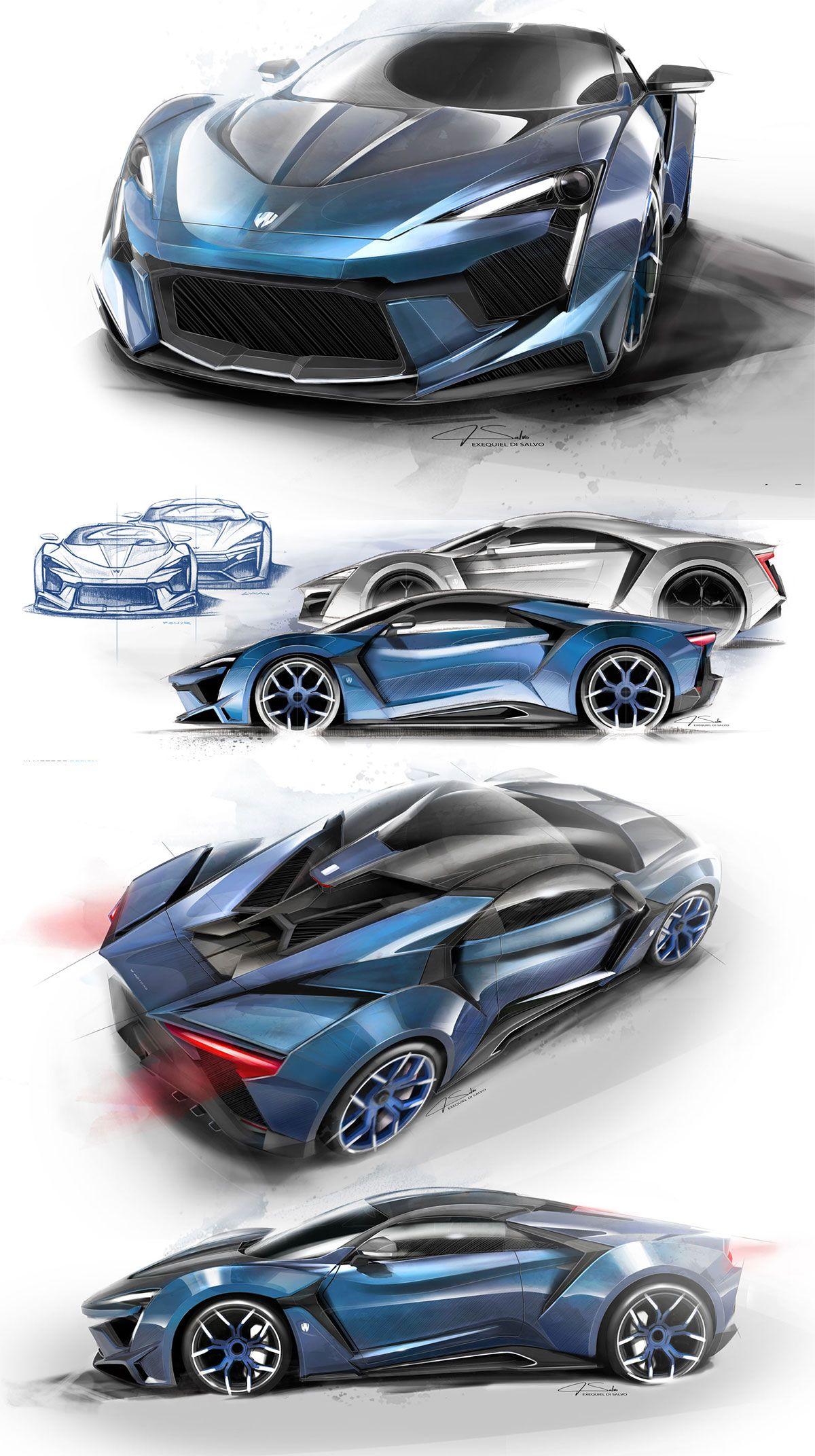 W Motors Fenyr Supersport Designs Sketches Concept Car Design Concept Car Sketch Futuristic Cars
