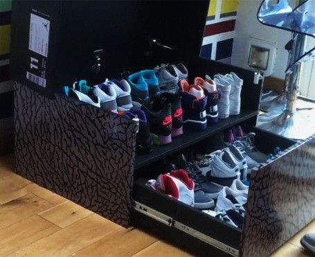 Huge Nike Sneaker Storage Solution Inspired By Air Jordan Shoe Box