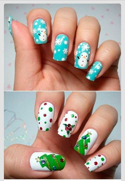 30 most cute christmas nail art designs christmas nail art 30 most cute christmas nail art designs prinsesfo Images