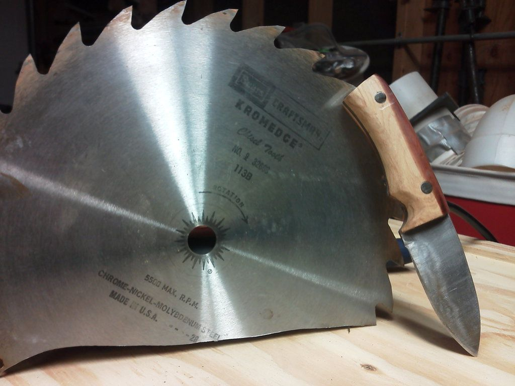 This knife was also made out of an old circular saw blade the homemade knife greentooth Image collections