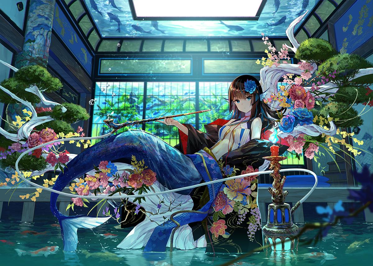 藤ちょこ(藤原) on in 2020 Anime mermaid, Anime art girl