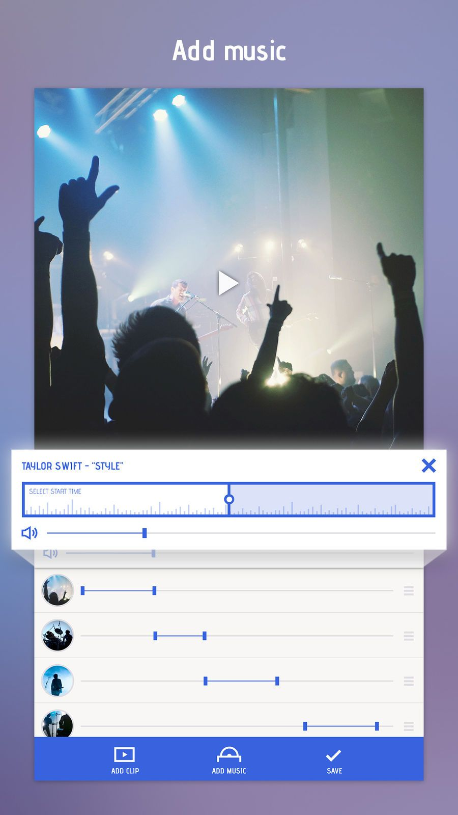Combine videos and stitch clips together with video