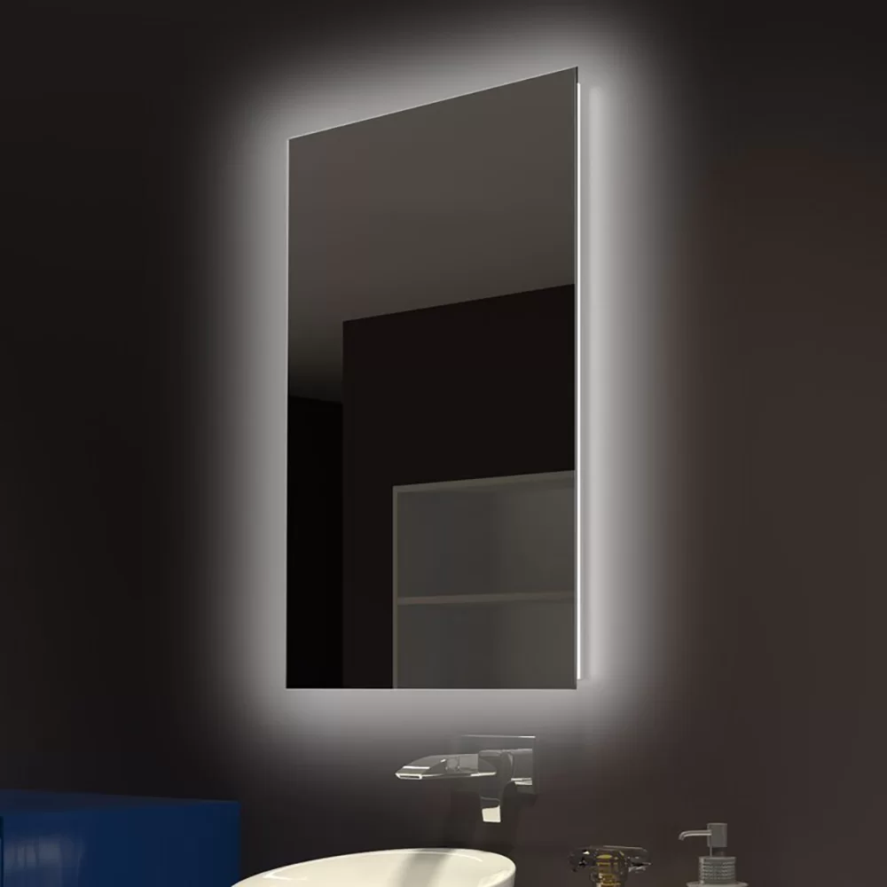 Kearsarge Frameless Lighted Bathroom Vanity Mirror Bathroom Vanity Mirror Bathroom Mirror Backlit Bathroom Mirror