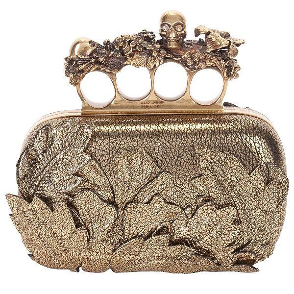 7531a009599 Alexander McQueen 3D Flower Knuckle Box Clutch   CLUTCH LADY ...