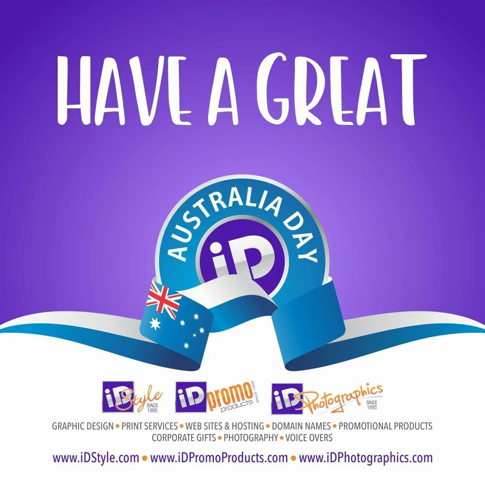 Have a great Australia Day! Graphic design print, Print