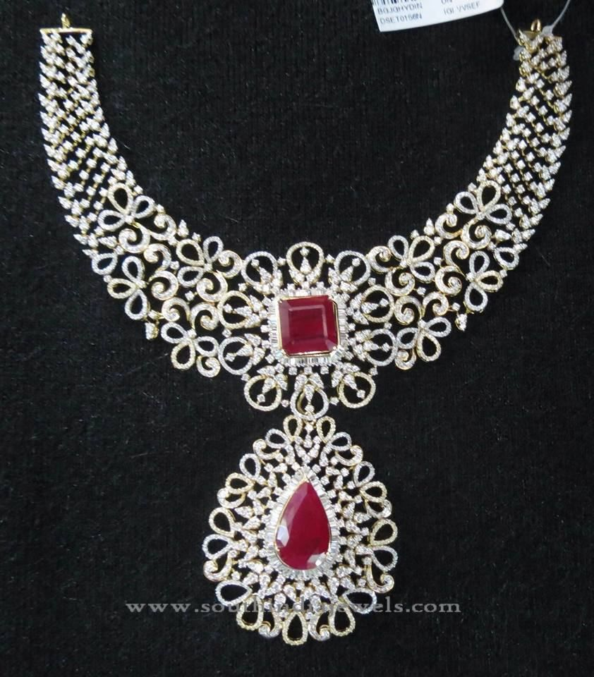 and necklace jewellery diamond l indian designs gold wedding choker