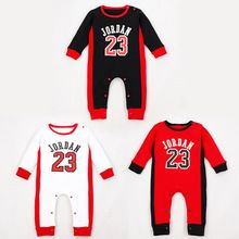 aceptable construcción Usando una computadora  Cotton Pajamas Newborn 23 Jordan Baby Boy Long Sleeve Rompers ...
