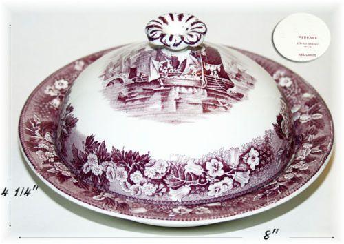 Wedgewood Ferrara Plum Round Butter Dish | eBay
