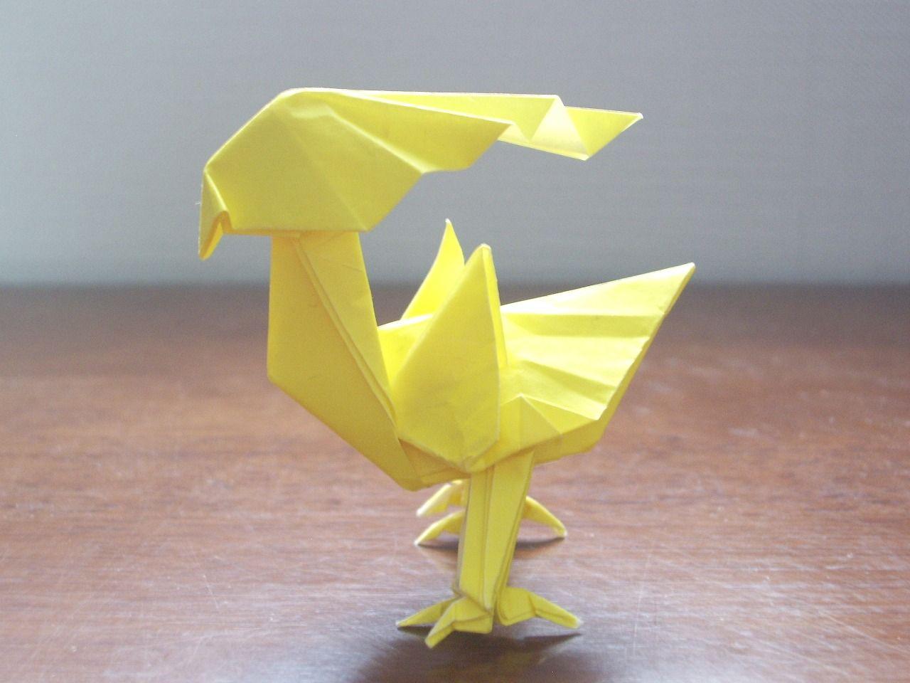 Katakoto origami yellow bird awesome origami pinterest