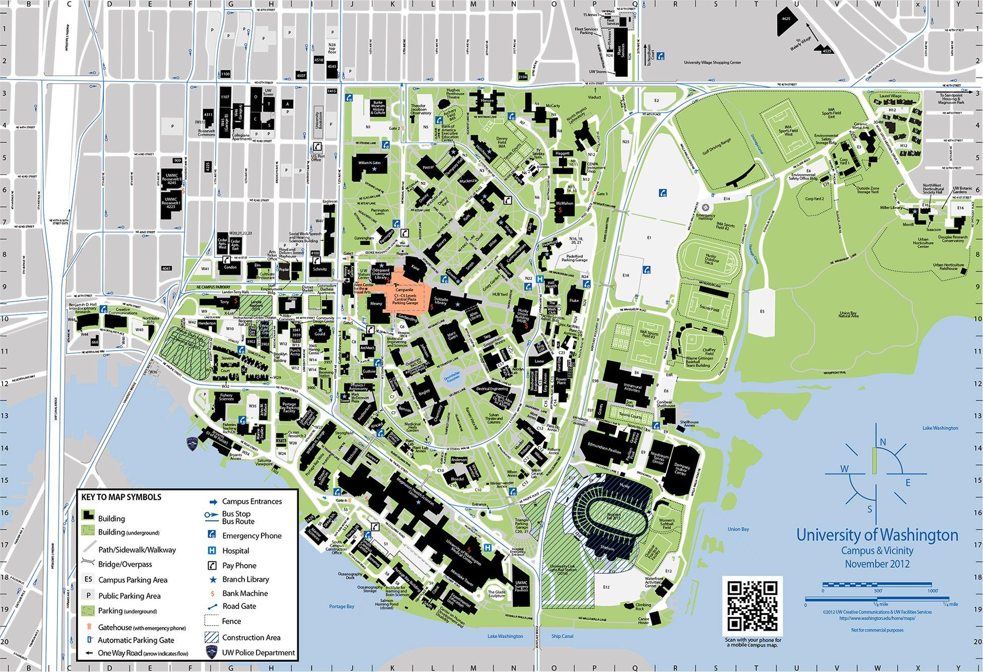 map of u of i campus University Of Washington Campus Map map of u of i campus