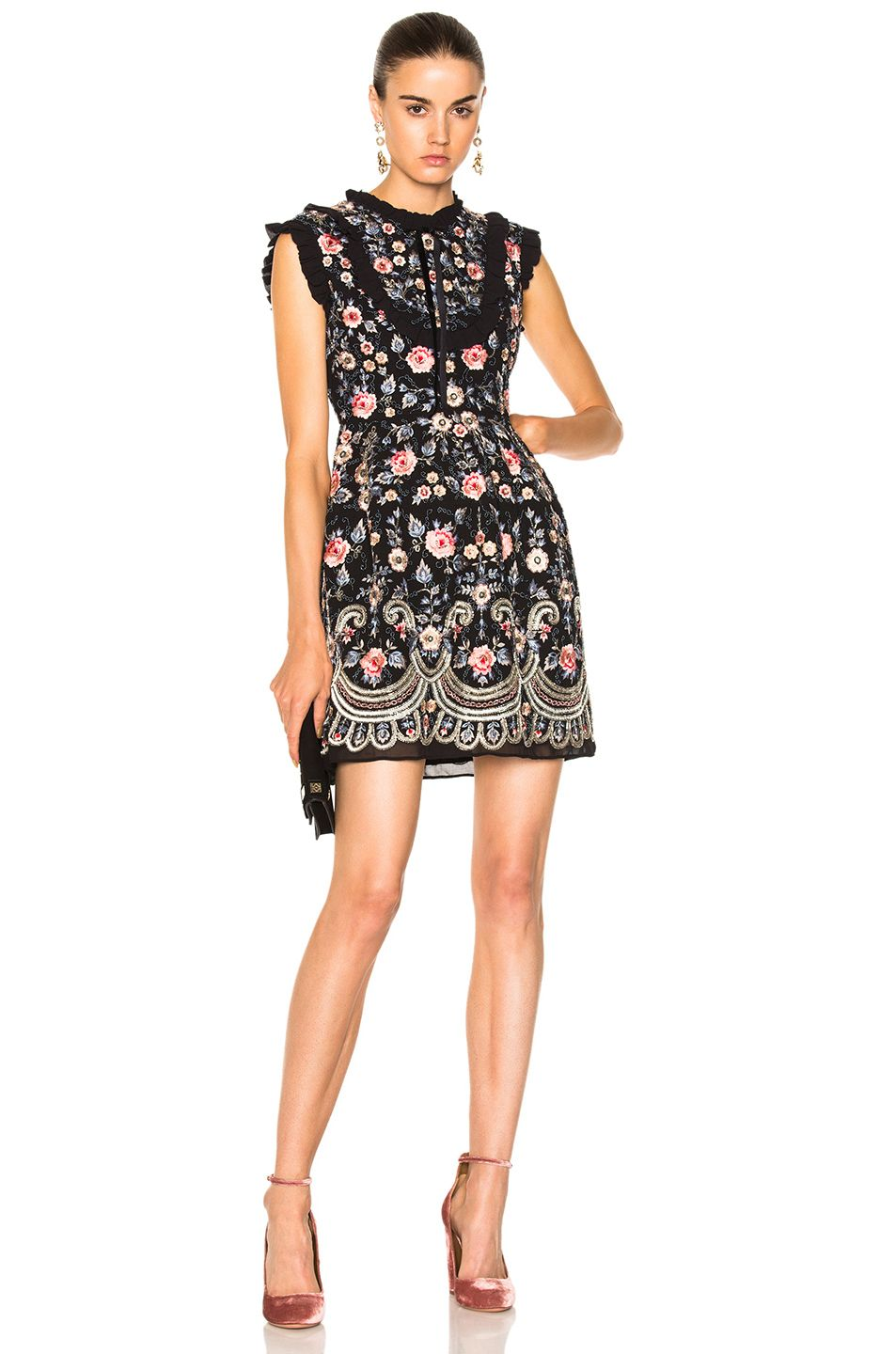 Image of needle u thread whisper prom dress in black floral