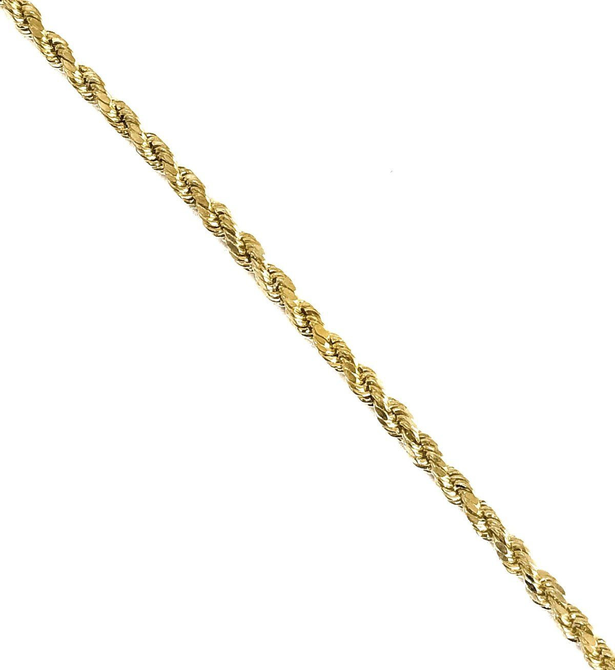 Material Solid 14k Gold Lightweight In 2020 Gold Rope Chains 10k Gold Chain Gold