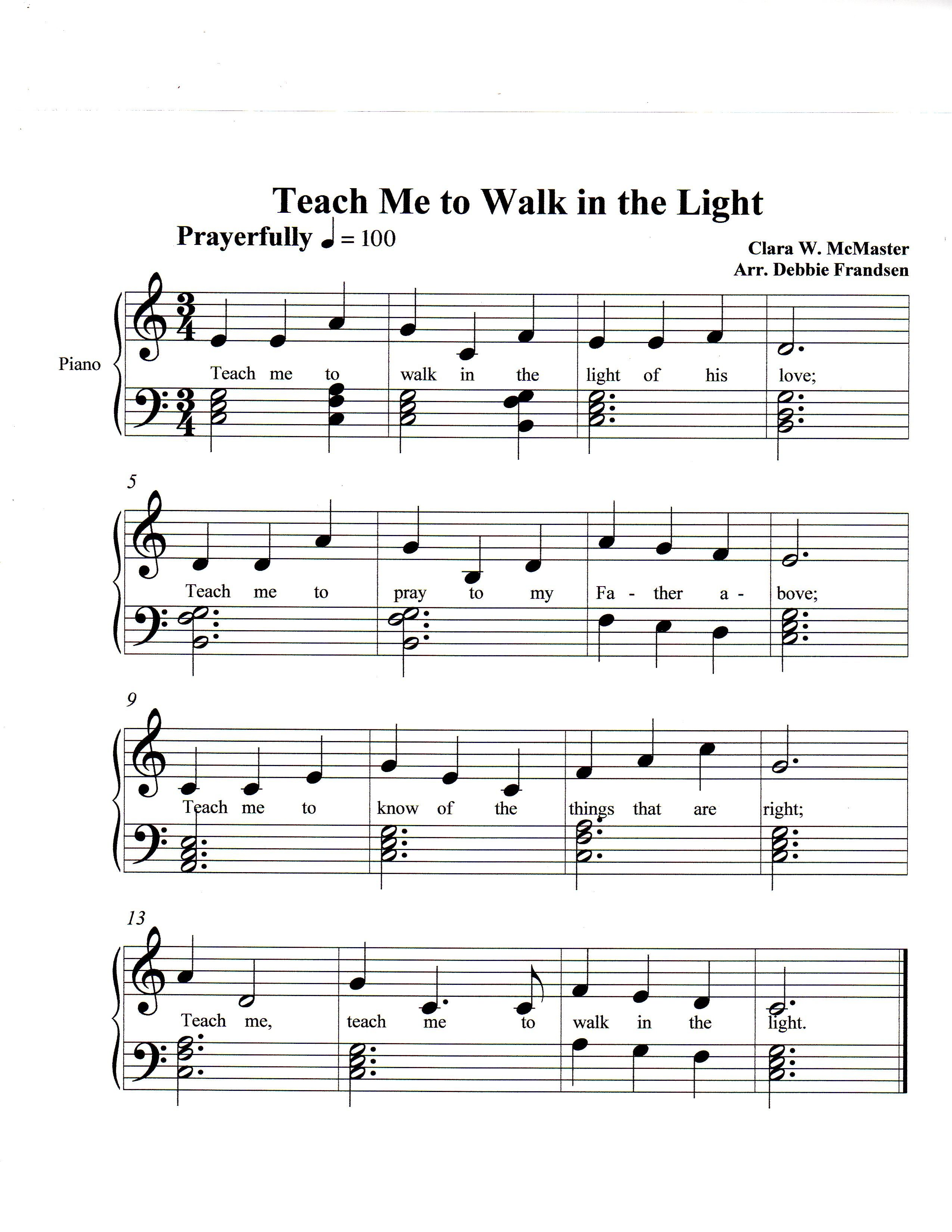 Park Art|My WordPress Blog_I See The Light Piano Sheet Music Solo