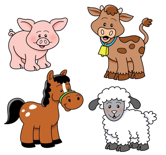 farm animals cows goats pinterest farming animal and clip art rh pinterest com clipart pictures of farm animals cartoon clipart of farm animals