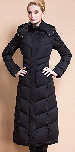 Ilishop Women's Winter Coat Plus Size Long Down Jacket with Hood ...