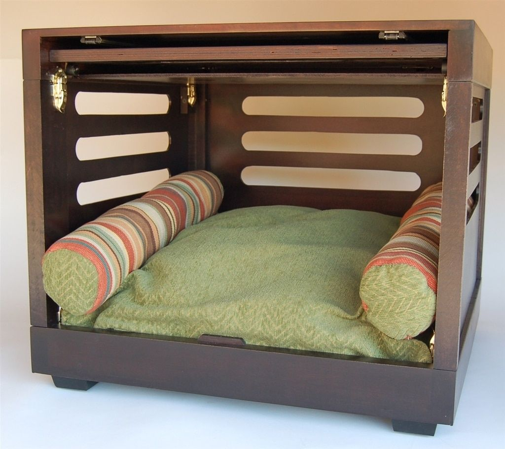Designer Dog Crate Dog furniture, Dog crate furniture