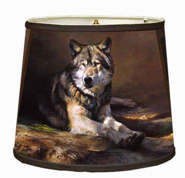 Wolf lampshade western decor cabin decor lodge decor wolf lampshade aloadofball Gallery