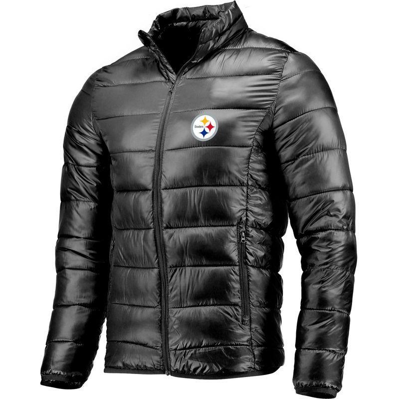 52c54965e1a Men s NFL Pro Line by Fanatics Branded Black Pittsburgh Steelers Heater  Puffer Jacket