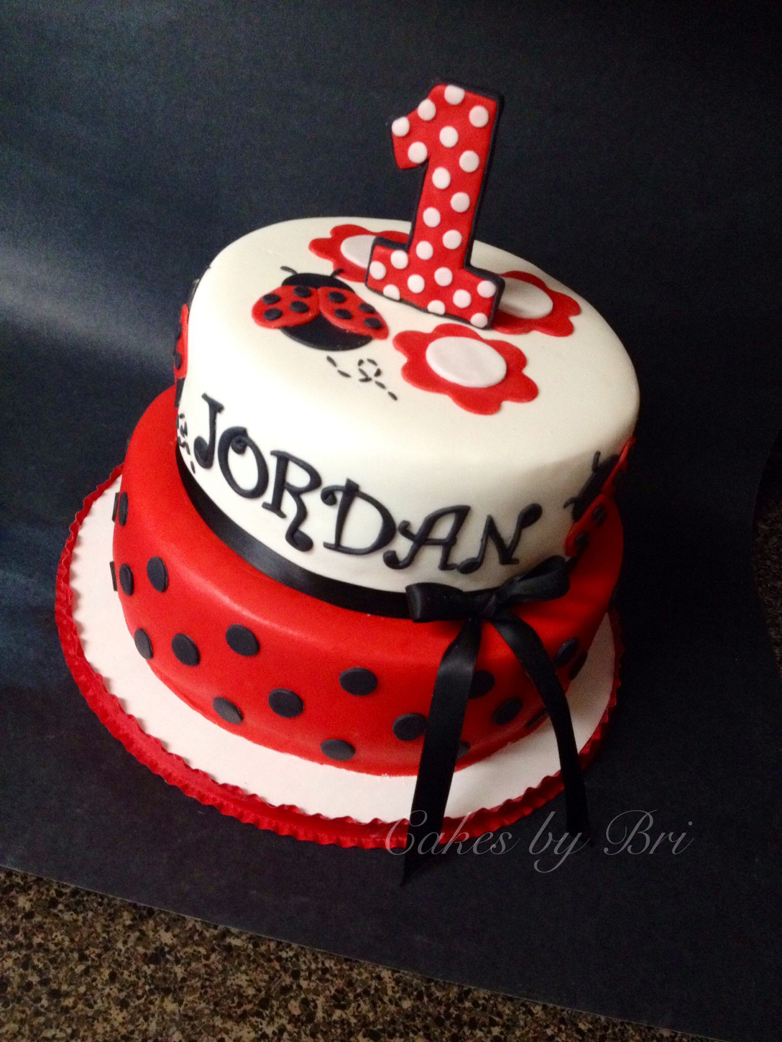 Wondrous Lady Bug Themed Birthday Cake Bug Cake Lady Bug Birthday Cake Funny Birthday Cards Online Kookostrdamsfinfo