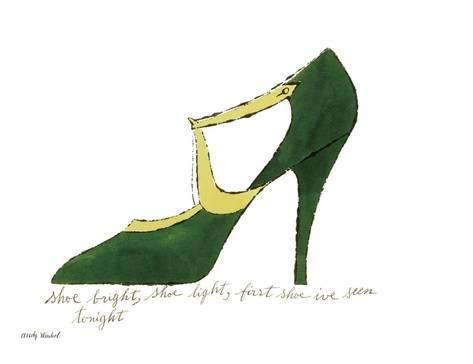 Art Print: Shoe bright, shoe light, first shoe I've seen tonight (from: A La Recherche du Shoe Perdu by Andy W by Andy Warhol : 20x26in