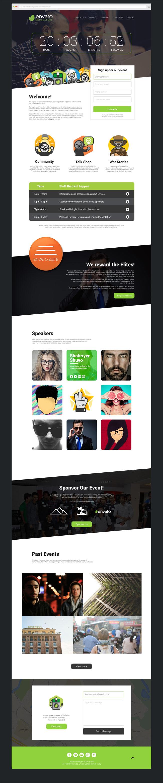 Meetup Free Event Landing Page PSDHTML Web Design Pinterest - Event landing page template free