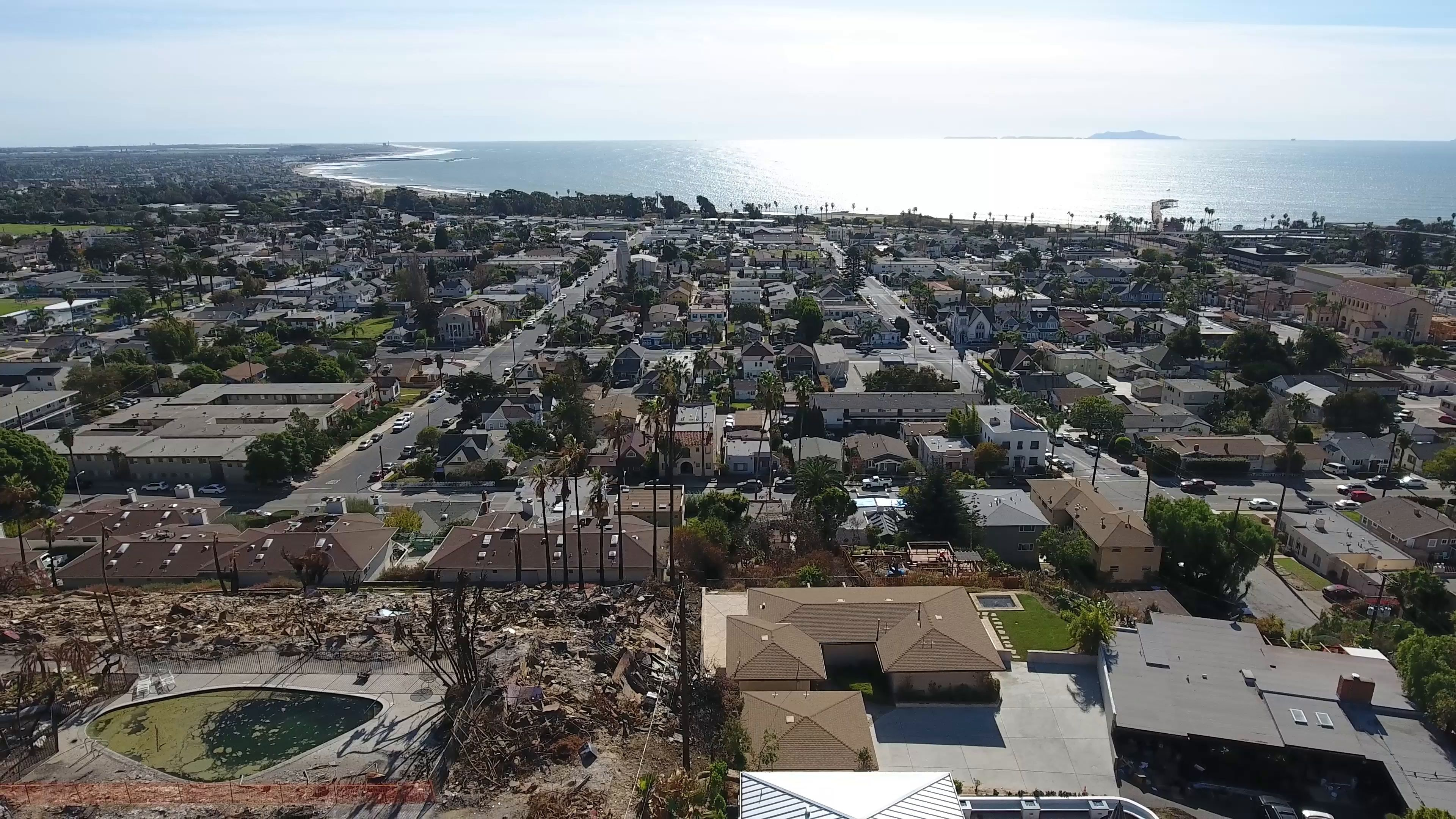 Burned Apartment After Thomas Fire In Ventura Ca Stock Footage Thomas Fire Burned Apartment Thomas Fire Stock Footage