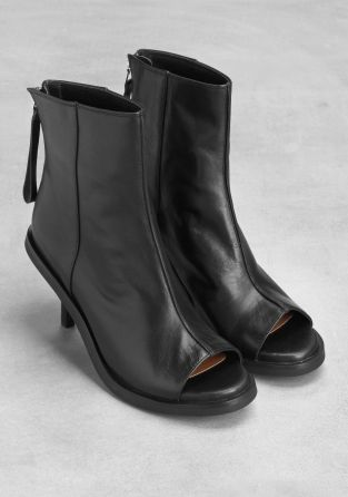 & Other Stories | Peep toe ankle boots