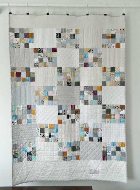 My scrappy 20-patch quilt is all finished and ready for snuggles, yay! I don't even remember last time I enjoyed making a quilt as much as I did this one. It wasn't a quick finish. I pieced the qui