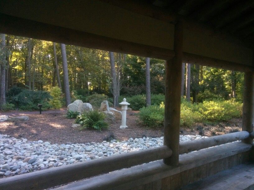 View from hut (With images) Japanese garden, Virginia
